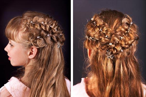 Причёски для девочек на длинные волосы 13 лет