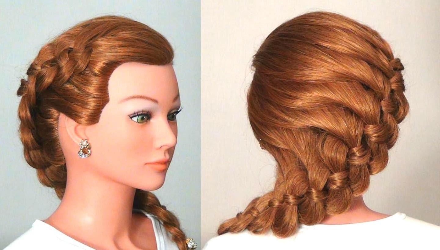 Прически с косой для длинных тонких волос