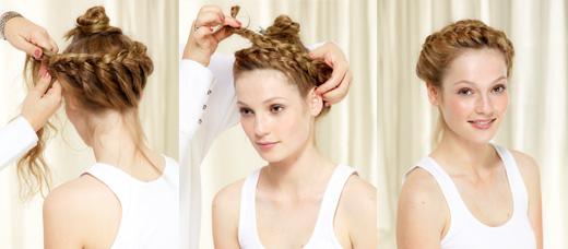 Прическа плетение вокруг головы