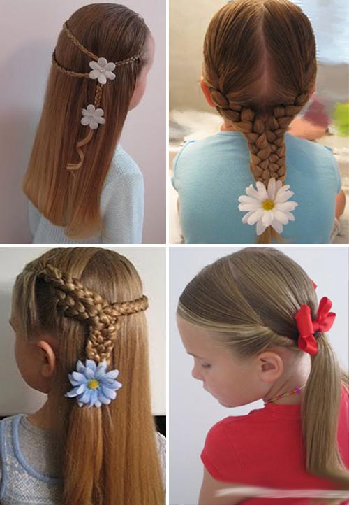 Детские прически на средние волосы для детей