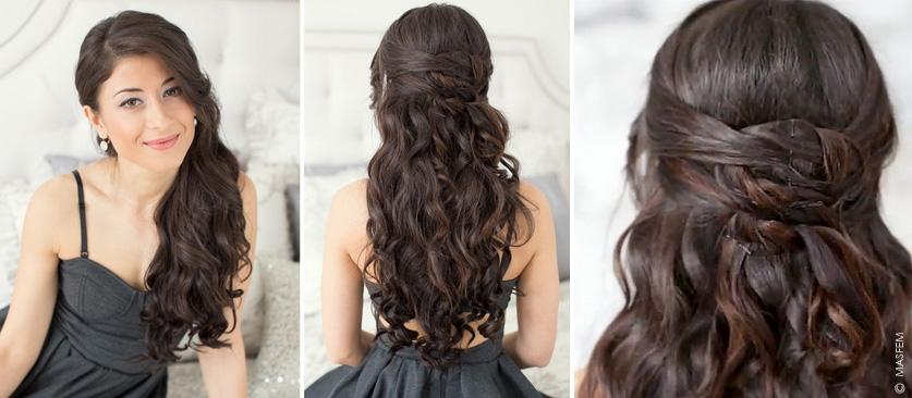 Как на средние волосы сделать локоны утюжком