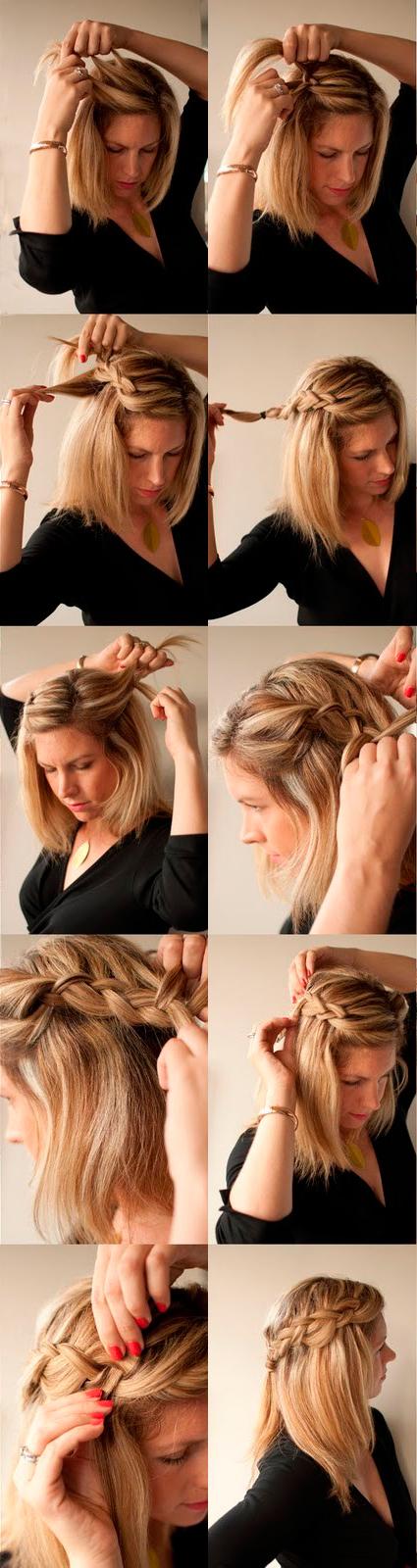 Быстрые прически своими руками на средние волосы