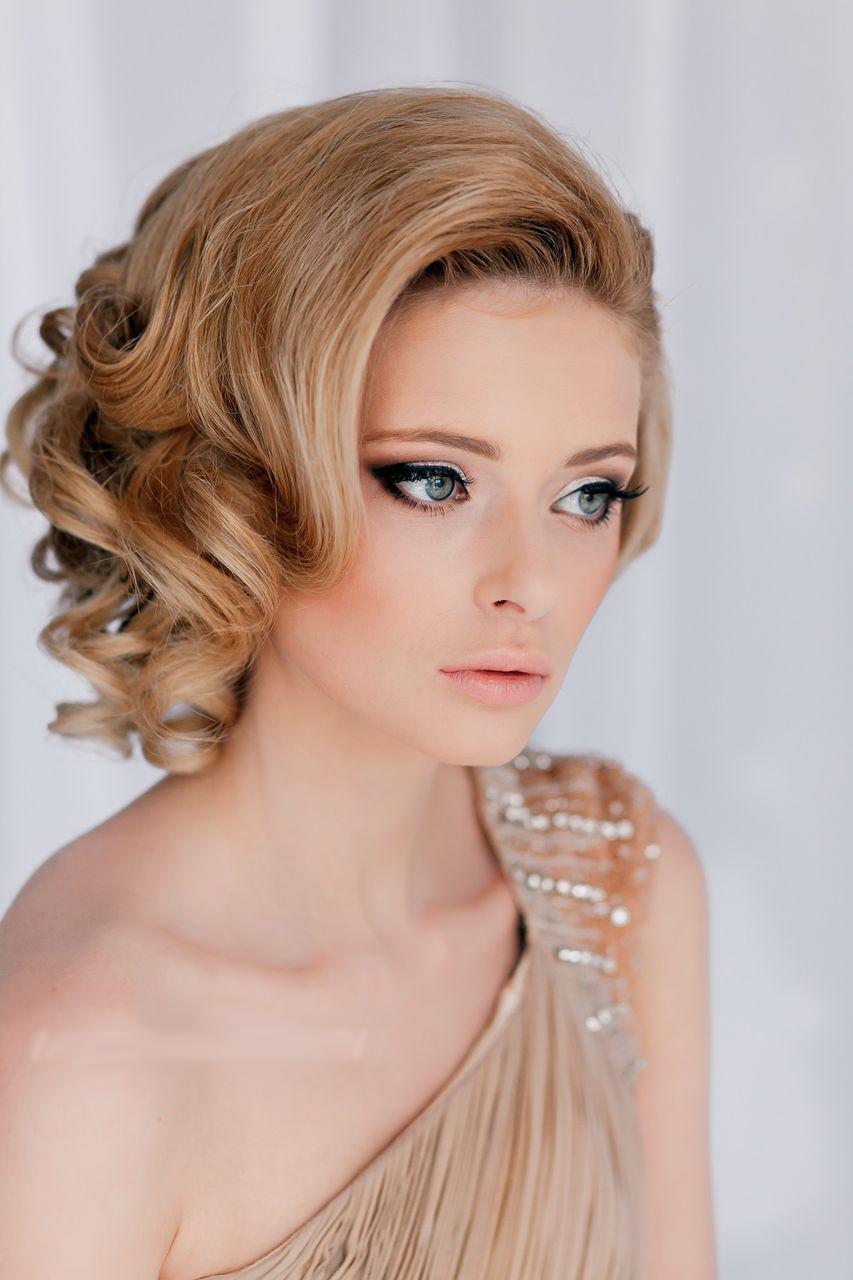 Укладки на средние волосы фото прически