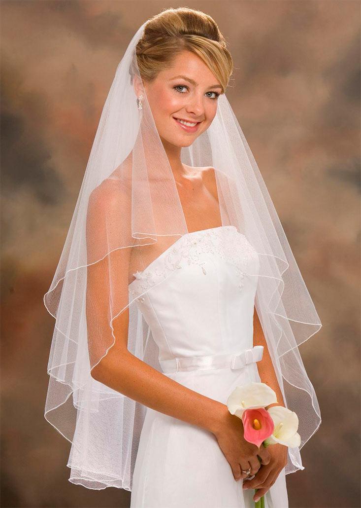 прически свадебные фото с фатой