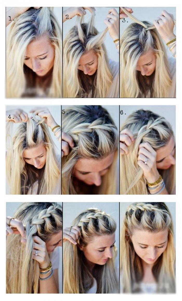Косы своими руками на средние волосы фото