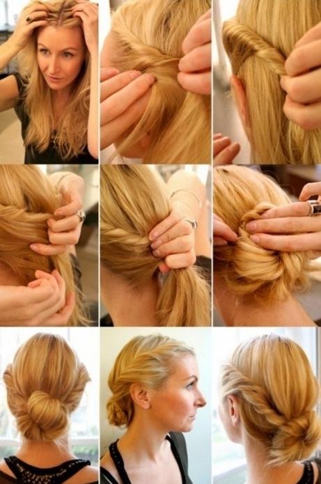 Причёски на средние волосы на себе видео
