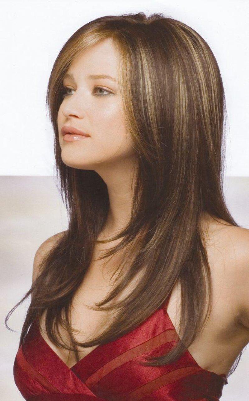 Каскад стрижка фото на длинных волосах