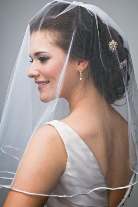 Изобр по > Свадебная Прическа с Фатой Длинные Волосы