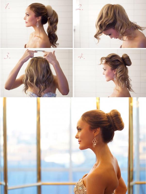Собрать волосы своими руками
