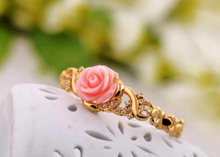 Японский-и-корейский-мода-австрийский-хрусталь-толстая-позолоченный-браслет-коробку-тонкий-розы-девушки