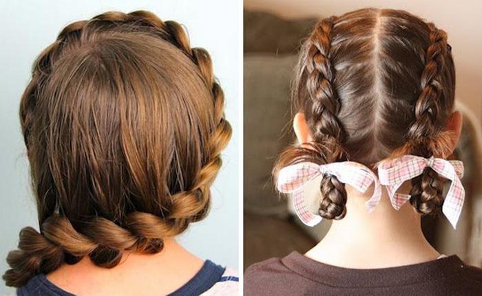 Причёски для девочек в школу лёгкие