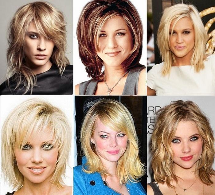 Прически круглое лицо средние волосы