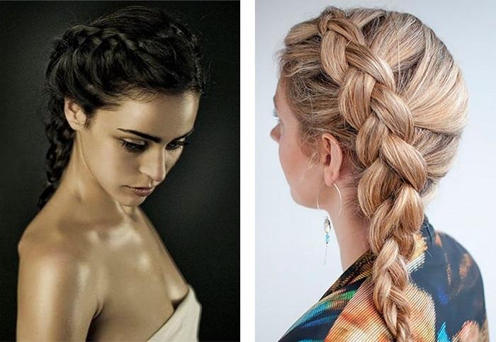 Простые прическа плетение кос на длинные волосы