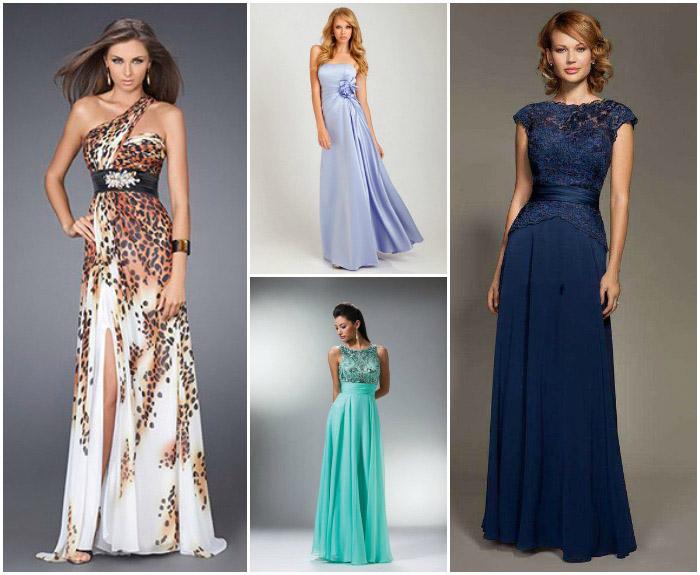 Прически на длинное платье
