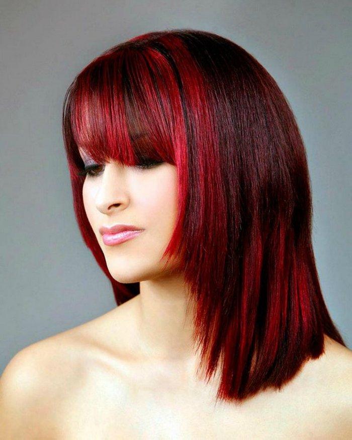 Покраска волос двумя цветами