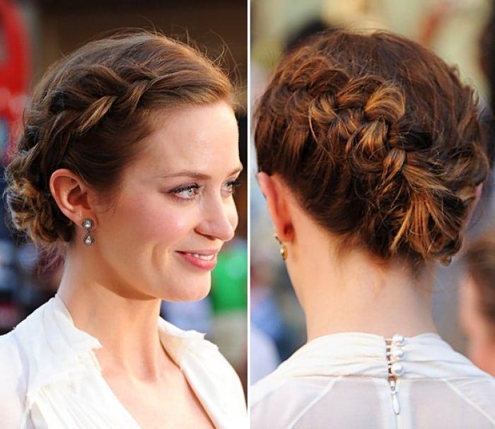 Фото причесок с косами на короткие волосы с челкой