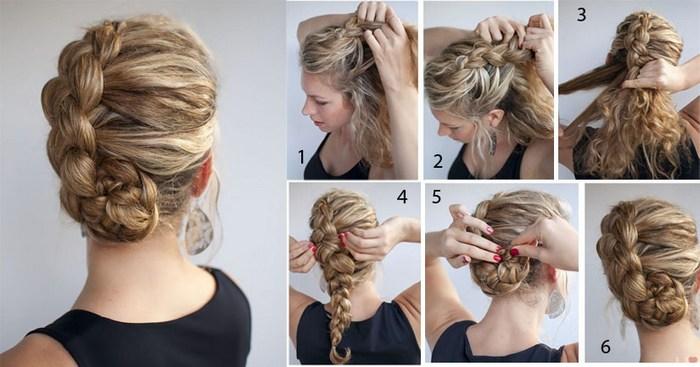 прически на средние волосы фото косы