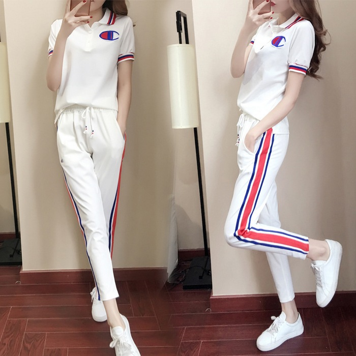 QMGOOD-Short-Sleeve-T-Shirt-Women-s-Tracksuit-font-b-Suits-b-font-2-Pieces-Set