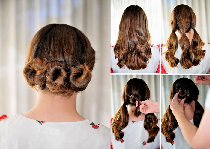 simple hairstyles images step by step